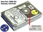 8.4GB IDE hard drive - 3.5-inch form factor, 1.0-inch high Part 166981-001  , 163804-001