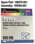 Imation 650MB rewritable optical disk PD650