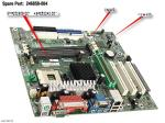 Motherboard (system board), Spider, for Pentium 4 processors (Socket 478), PC133 SDRAM - With Ethernet (NIC) - Does not include processor