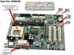 Motherboard (system board), Loretto, for Intel Celeron processors - Does not include processor