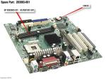 System board for Pentium 4 and Celeron processors - UATX form factor