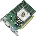 NVIDIA Quadro FX 1100 8X graphics card (NV36GL based) - Midrange 3D graphics board with 128MB 650MHz DDR2 SDRAM, Dual 400MHz RAMDAC, one 4-pin internal power input, one 3-pin mini-DIN stereo and two DVI-I analog/digital outputs - Requires one APG slot