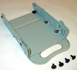 Metal drive tray with four mounting screws