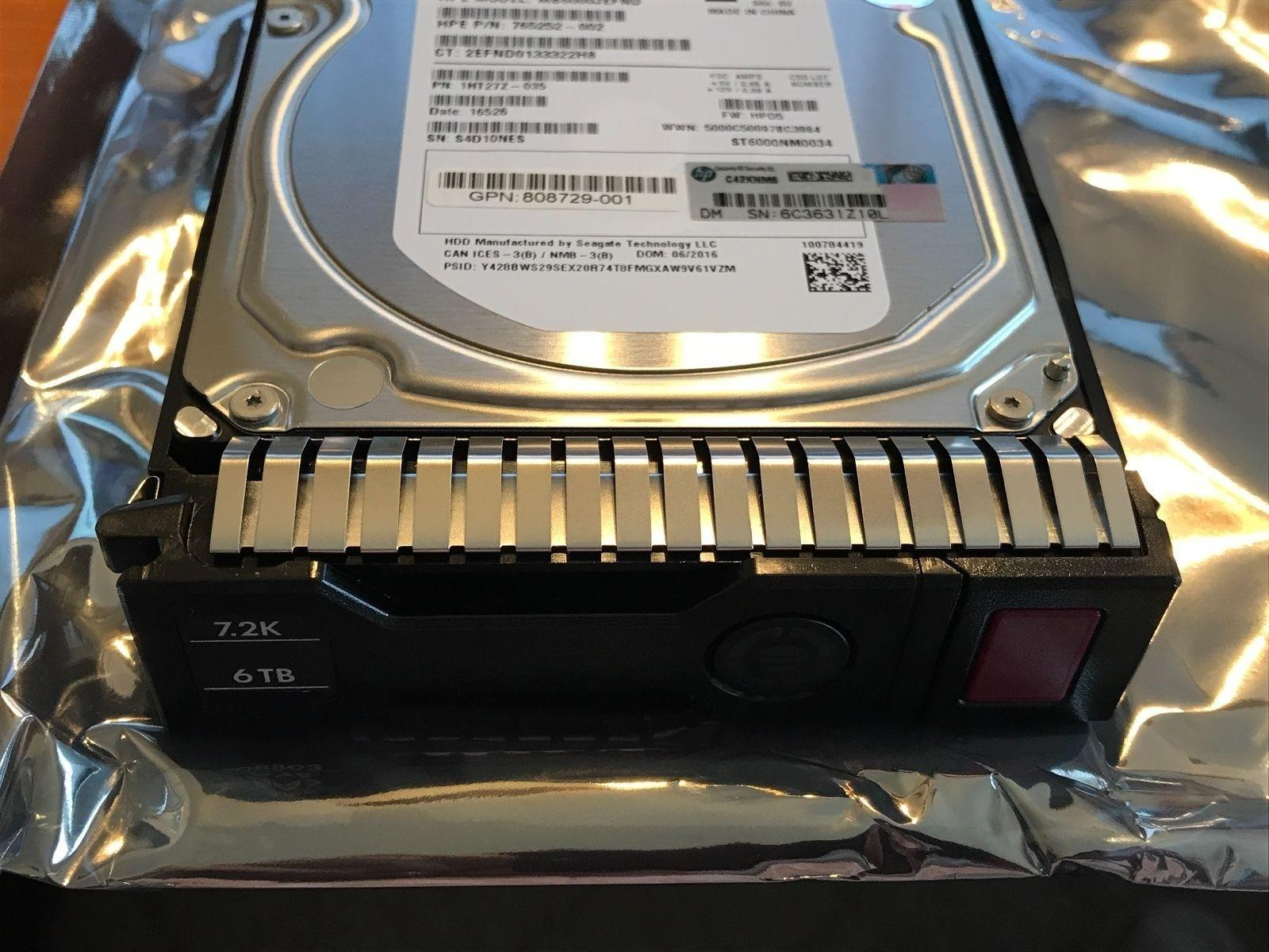 Hpe 846608-001 6tb 7200rpm 35 Inch Lff Sata-6gbps Midline Sc Hot Swap Hard  Drive With Tray Spare