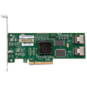 Lsi Logic Lsisas3081e-r 8channel Pci Express Sata-300 - Sas Raid Controller  Card With Low Profile Bracket